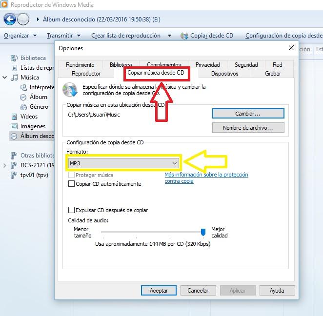 PASSAR LA NOSTRA MÚSICA A MP3 2